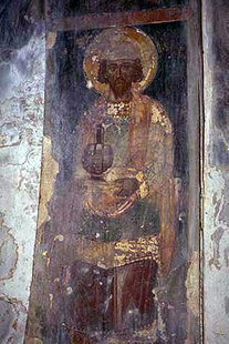 Fresko in der Agios Ioannis-Kirche in Episkopi
