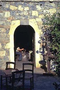 A workshop in Arolithos -  a traditional Cretan village kept up