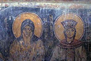 Fresko in der Agios Georgios-Kirche in Heliana
