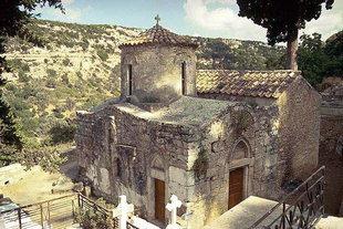 Die byzantinische Sotiras Christos-Kirche in Eleftherna