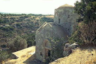 The Byzantine church of the  Panagia, Drakonero, Prinos