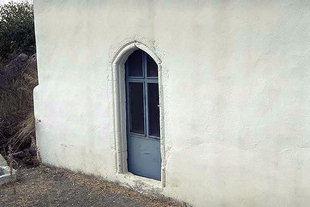 The portal of Panagia Church in  Kamariotis