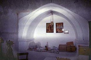 The tomb in the Panagia Church,  Kamariotis
