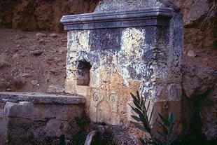A fountain behind the Agios Ioannis Prodromos Monastery, Bali
