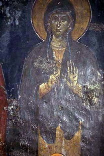 A fresco in Agios Ioannis Church, Anogia