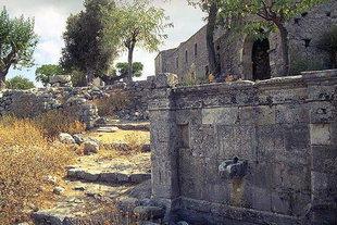 The fountain in the Halepa Monastery