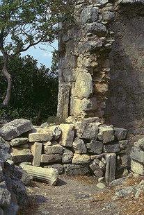 Ruderi di una chiesa proto-cristiana ad Elèftherna