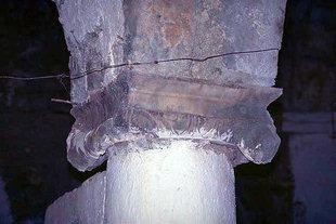 An ancient remainder in  Agios Dimitrios Church in Viran Episkopi