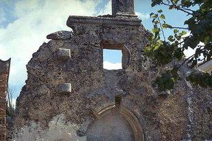 Un détail de la fa(ade de l'église de la Panagia à Skouloufia