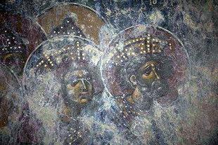 A fresco in Agios Ioannis Church, Erfi
