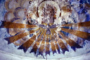 The Holy Spirit fresco in of the Panagia Church, Kastri