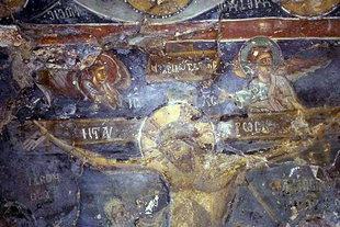 Μια τοιχογραφία στην εκκλησία της Αγίας Μαρίνας