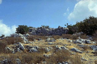 The ancient Acropolis in Axos