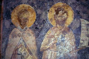 A fresco in the Panagia Church, Drakonero