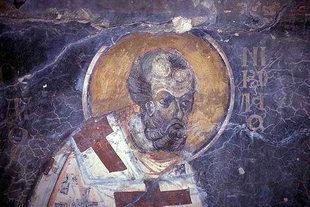 A fresco in Agios Georgios Church, Heliana