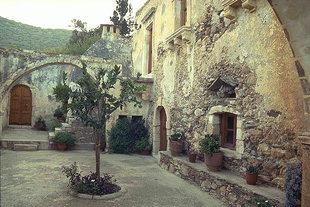 The cloister of Agios Ioannis Prodromos Monastery, Bali