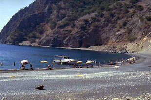The beach in Agia Roumeli