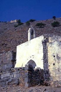 The Byzantine church of the Panagia in Agia Roumeli