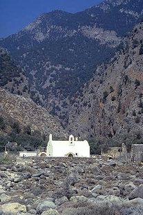 L'église Byzantine d'Agia Triada à Agia Roumeli