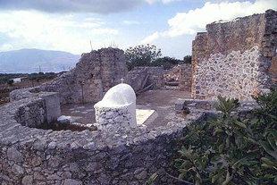 Die byzantinische Agii Pandes-Kirche in Sterne