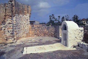 The grave in Agii Pandes in Sternes