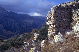 Walls of the fortifications in Polirinia