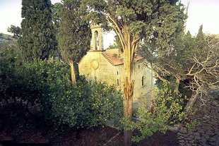 The church of the Aretiou Monastery in Mirabelo