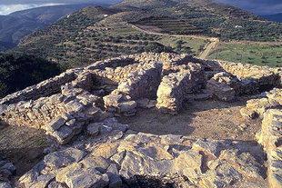 The fortress-like Minoan villa in Hamezi