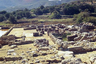 The Kitchen (bottom) in the North Wing, Zakros