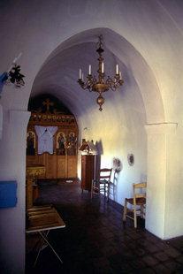 Inside Christos Church in Zakros