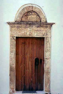The portal of  Agios Athanasios Church in Lithines