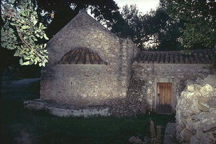 Die byzantinische Agii Apostoli-Kirche in Andromili, Lithines