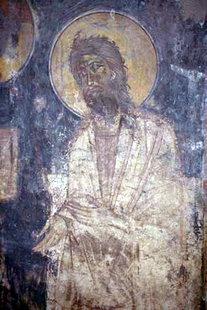 Μια τοιχογραφία στην εκκλησία των Αγίων Αποστόλων στους Ανδρόμυλους στις Λιθίνες
