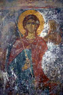 Μια τοιχογραφία στην εκκλησία των Αγίων Αποστόλων στους Ανδρόμυλους στις Λίθινες