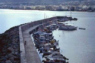 Le mur de protection du port