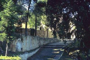 The entrance to the Kremasta Monastery