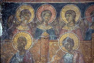 A fresco in Agios Georgios Church in Kato Fourni