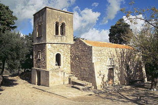The church of Agios Georgios Vrahatsiotis Monastery in Latsida