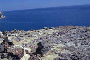 Das Libysche Meer und der Hof der Villa, Mirtos