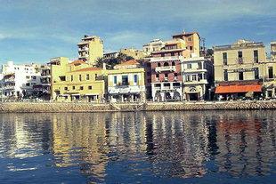 La zona del porto ad Agios Nikolaos