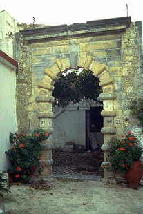 Das venezianische Portal, bekannt als Porto Romano, Houmeriako