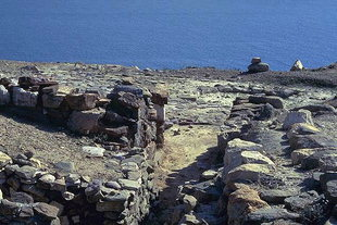La sala d'ingresso della villa minoica, Mirtos