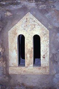 Una finestra della chiesa di Agios Nikolaos