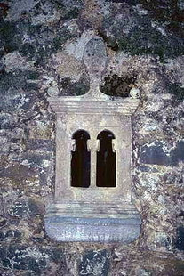 A detail of the Panagia Church in Houmeriako