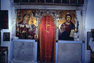 The altar screen of the Panagia Church, Panagia