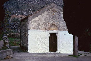 The Byzantine church of the Panagia Hanoutias in Gergeri
