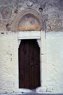 The portal of the Panagia Hanoutias Church in Gergeri