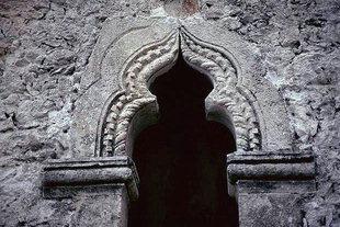 The artistic window in the Panagia Hanoutias Church in Gergeri