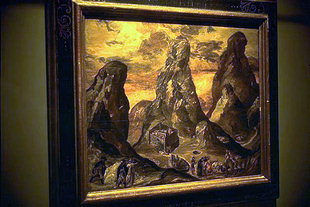 Mont Sinai and the monastery of St. Catherine by Dominikos Theotokopoulos (El Greco)