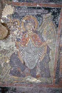 A fresco in Michael Archangelos Church in Asomatos